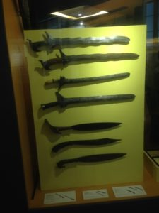 A variety of swords