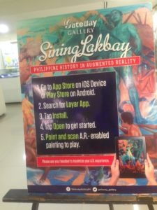 Gateway Gallery Sining Lakbay Instruction Poster
